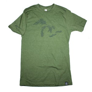 Image of Great Lakes T-Shirt Army Green