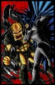 Image of BATMAN vs PREDATOR vs ALIENS - COLORED