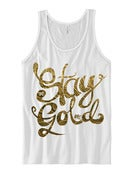 Image of STAY GOLD White Tank (Gold text)