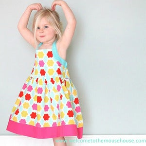 Image of Girls Summer Halter Dress Sewing Pattern sizes 2-8 years - PDF Sewing Pattern