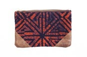 Image of Batik Travel Bag: Coral & Indigo