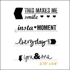Image of smile journal prompts stamp set