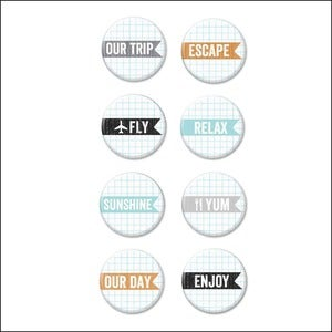 Image of escape v3 badge buttons