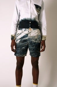 Image of Cotton Single Marble Dyed, Shorts with Deep Pockets