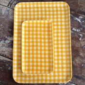 Image of Fog Linen Tray: Yellow Check