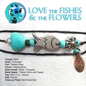 Image of Love the Fishes and the Flowers NTIO Bracelet