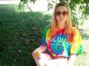 Image of Colours Tie Dye 4/20 Tee