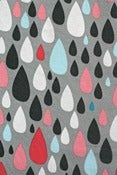 Image of Dancing in the rain- Drops - organic cotton jersey (by the half metre) 