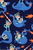 Image of Knights and Dragons organic cotton jersey (by the half metre)