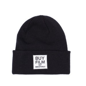 Image of BUY FILM patch beanie | Black