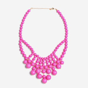 Image of Fuchsia Cascade Bubble Necklace