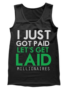 "Image of Millionaires ""JGPLGL"" BLACK&GREEN Tank"