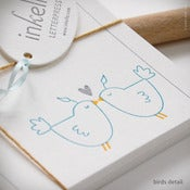 Image of Love Birds Personalized Recipe Cards {#266}