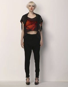 Image of QUADRATIC Tank - Red Fractal (Silk Jersey)