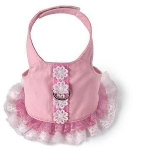 Image of Flower Dress Harness by Doggles - Pink
