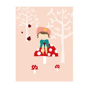 Image of 'Elsie and the ladybirds' Art Print