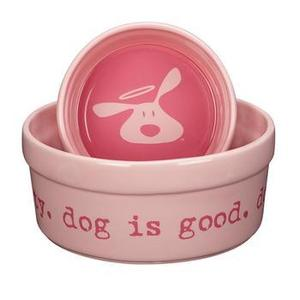 Image of Dog is Good Bolo Dog Dish - Light Blush