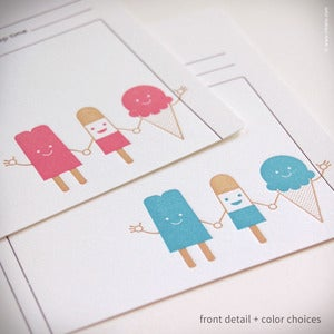 "Image of ""Cool Friends"" Personalized Recipe Cards {#283}"