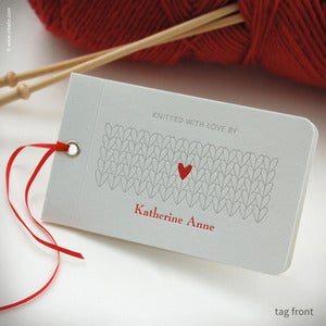 Image of Heart Personalized Knitting Tags {#353}