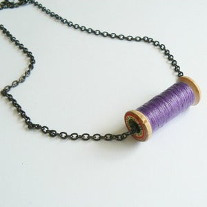 Image of Un-Reel Pendant Necklace - Violet