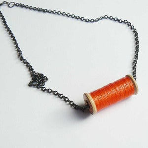 Image of Un-Reel Pendant Necklace - Citrus