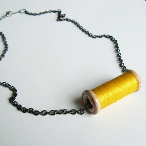 Image of Un-Reel Pendant Necklace - Sunshine Yellow
