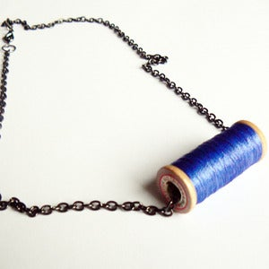 Image of Un-Reel Pendant Necklace - Sky