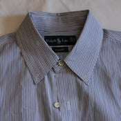 Image of Polo Blue Striped Shirt, size 15 1/2 x35