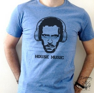 Image of T-shirt bleu homme House Music by Dadawan