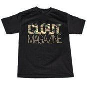Image of CLOUT Magazine Header Woodland Camo T-shirt