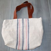 Image of Faded Blue and Pink Tote Bag