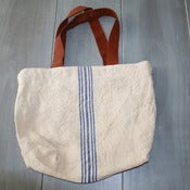 Image of Swedish Blue Striped Tote Bag