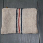 Image of Antique Linen Pouch - Mixed Colour