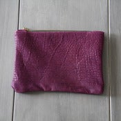Image of Leather Pouch - Pebbled Purple