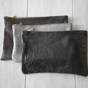 Image of Leather Clutch - Blacks