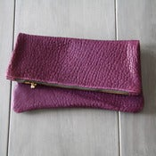 Image of Leather Sac - Pebbled Purple