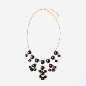 Image of Black Mini Bubble Necklace