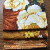 Image of Burleigh Vintage Barkcloth Fabric Scrap Bag