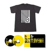 Image of John Digweed Live in Slovenia 2xCD Signed Slipcase Pre-order & United States of Bedrock Shirt
