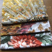 Image of Firework Vintage Barkcloth Fabric Scrap bag