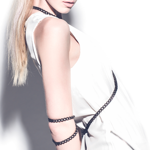 Image of V. Gunmetal Chain Elbow Harness