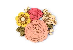 Image of Rose Posy Brooch