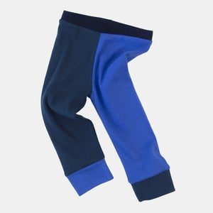 Image of Organic Cotton Jester Leggings - Sky+Emerald