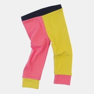 Image of Organic Cotton Jester Leggings - Hot Pink+Highlighter