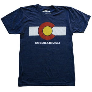 Image of Coloradical Colorado Flag T-Shirt-             Men's Dark Blue