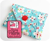 Image of Secret Pocket Envelope Clutches PDF Sewing Pattern