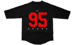 Image of Ninety-Five - Black Raglan