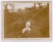 Image of FLOATING MAN IN THE GRASS VINTAGE DOUBLE EXPOSURE SNAPSHOT PHOTO