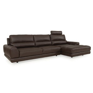 Image of Olympia leather sectional