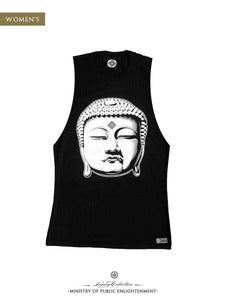Image of WOMEN'S BUDDHA MUSCLE T-Shirt | Black